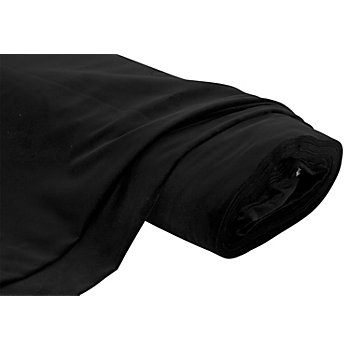 Baumwollsamt 'Premium', schwarz