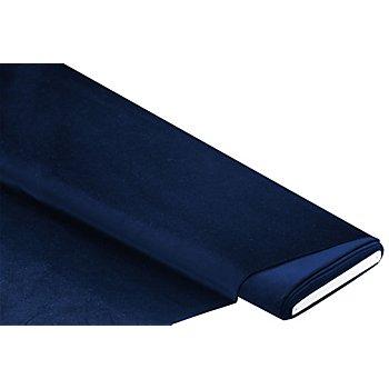 Tissu velours 'Premium', bleu foncé
