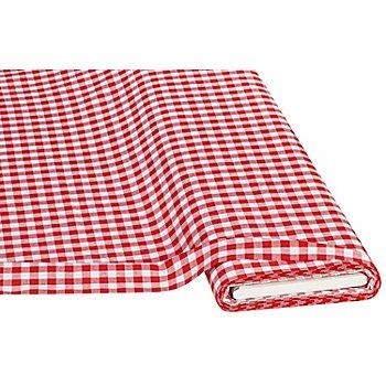Buntgewebtes Vichykaro 1 x 1 cm, rot/weiß
