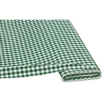 Buntgewebtes Vichykaro 1 x 1 cm, grün/weiß