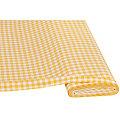 "Tissu coton ""carreaux vichy"", 1 x 1 cm, jaune/blanc"