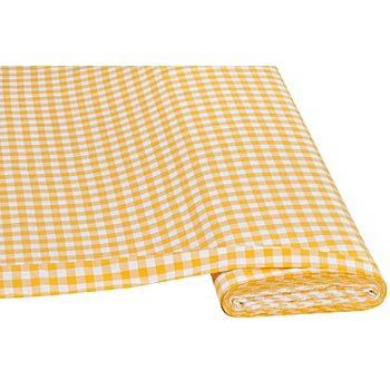 Buntgewebtes Vichykaro 1 x 1 cm, gelb/weiss