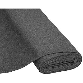 Tissu sweat-shirt 'Basic', avec envers doux et gratté, anthracite chiné