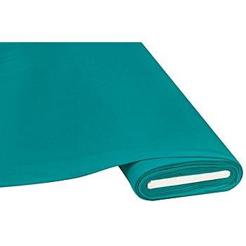 Tissu jersey en coton 'basic', turquoise
