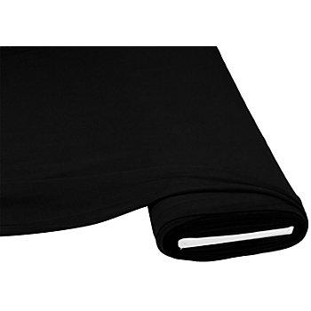 Tissu jersey en coton 'Casual', avec de l'élasthanne, noir