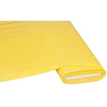Tissu jersey en coton 'basic', jaune citron