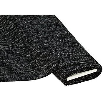 Tissu d'ameublement 'Rustica', noir/blanc
