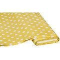Abwaschbare Tischwäsche - Wachstuch Tupfen, gelb/weiss