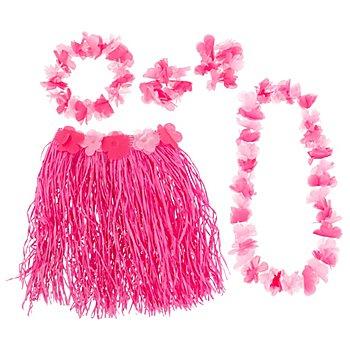 Set 'danseuse hawaïenne', rose vif