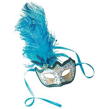 Masque 'Venise', turquoise