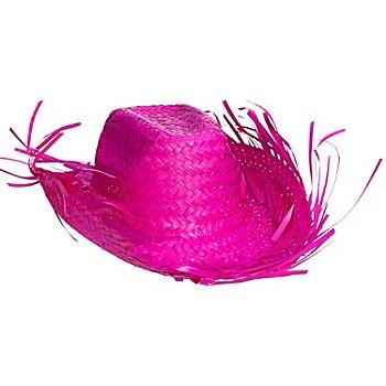 Strohhut Karibik, pink