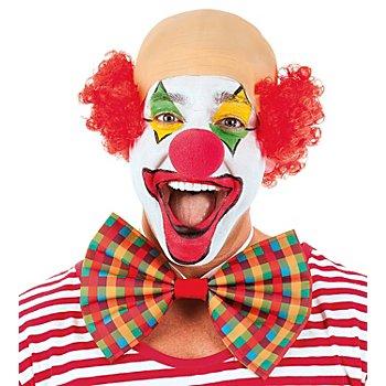Perücke Halbglatze 'Clown', rot