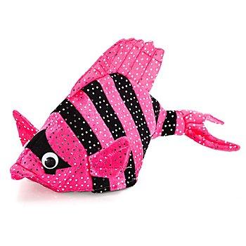 Coiffe 'poisson', rose vif/noir