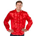 """Chemise """"froufrou"""" homme, rouge"""