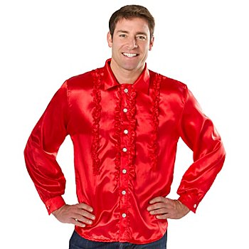 Chemise 'froufrou' homme, rouge