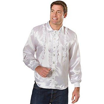Chemise 'froufrou' pour hommes, blanc