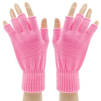 Strickhandschuhe, rosa