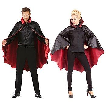 Vampir-Umhang 115 cm, schwarz/rot