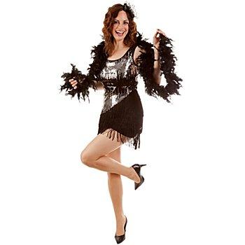 Charleston Kleid 'Nessa', schwarz