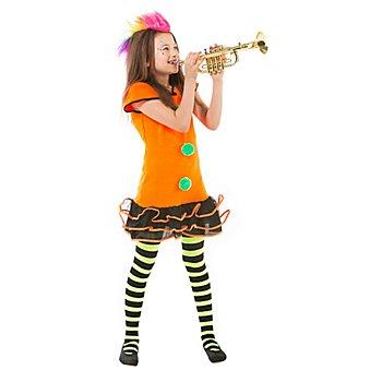 Funkygirl Kostüm für Teenies, neonorange