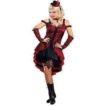 Faschingskostüm Saloongirl 'Red Lady', rot