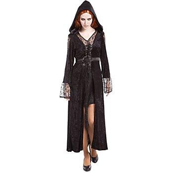 Gothic Kleid 'Allison', schwarz