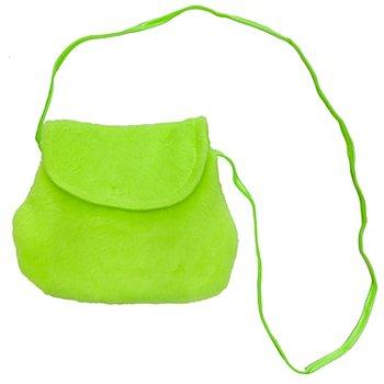 Tasche Flauschstoff, neongrün