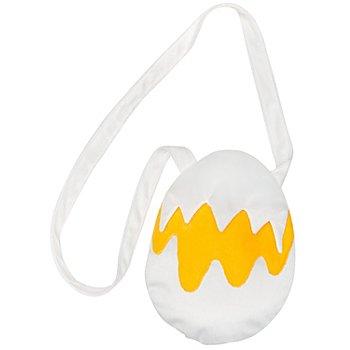 buttinette Tasche Ei, weiß/gelb