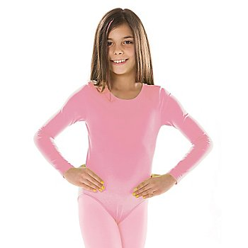 Langarmbody für Kinder, rosa
