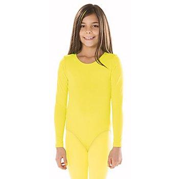 Body à manches longues pour enfants, jaune clair