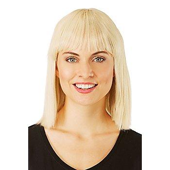 Perruque 'coupe au carré', blond, 30 cm