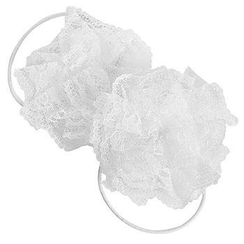 Elastique 'rosace', blanc