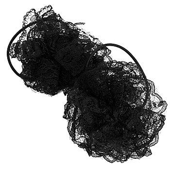 Haargummis 'Rosette', schwarz