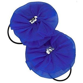 Haargummis 'Rosette', blau