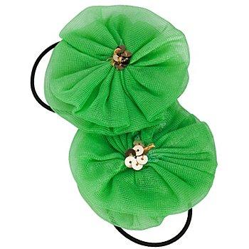 Haargummis 'Rosette', grün