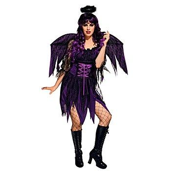 Robe 'ange noir' femme