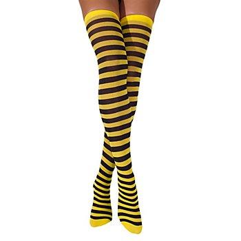 Overknee-Strümpfe 'Biene'