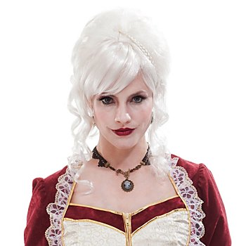 Rokoko Perücke 'Barock-Lady', weiss