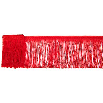 Ruban de franges, rouge, 4 m