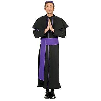 Faschingskostüm Bischof, lila/schwarz