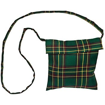 Sac à bandoulière 'écossaise', vert