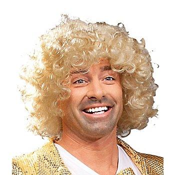 Lockenperücke, blond
