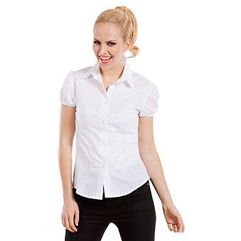 Bluse mit Kragen für Damen, weiß