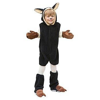 buttinette Schaf Kostüm für Kinder, schwarz