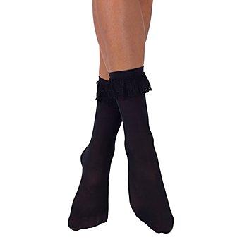 Chaussettes à froufrous, noir