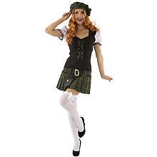 Kostüm Schottin, schwarz/grün