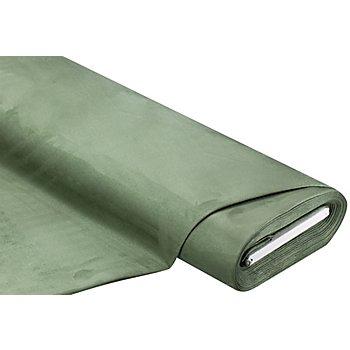 Tissu velours d'ameublement, vert olive