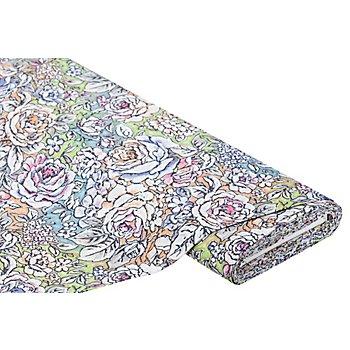 Tissu de décoration 'fleurs', multicolore