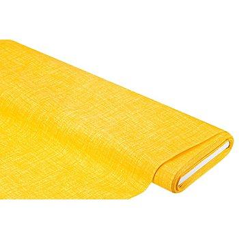 Tissu coton-polyester enduit 'Meran', uni, jaune