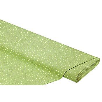 Baumwollstoff Punkte 'Mona', grün/weiss